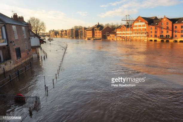 city flooding - york yorkshire stock pictures, royalty-free photos & images