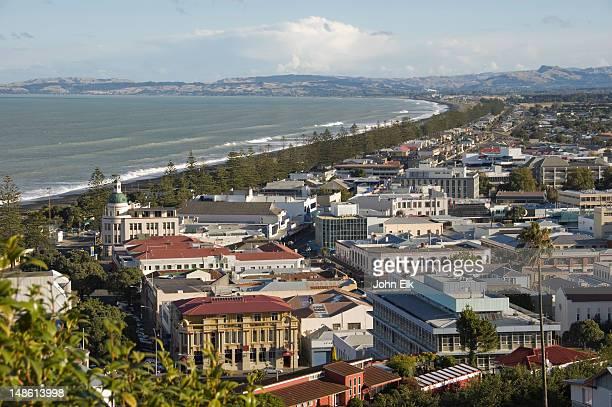 city from above. - napier stock-fotos und bilder