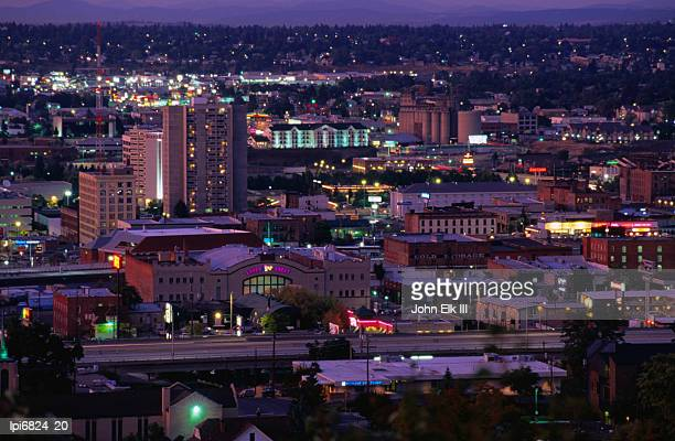 city from cliff avenue, spokane, united states of america - spokane stock pictures, royalty-free photos & images