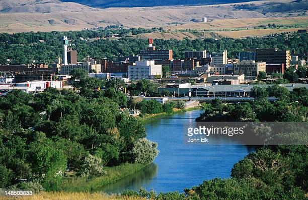 city from the north. - casper wyoming stock pictures, royalty-free photos & images
