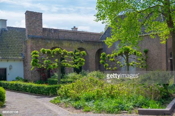 City garden in Zutphen in Gelderland, The Netherlands
