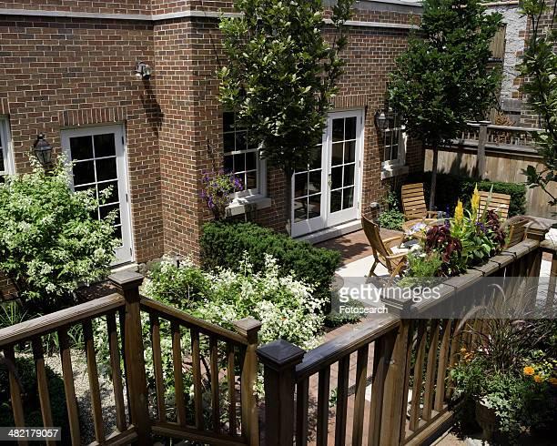 City garden patio