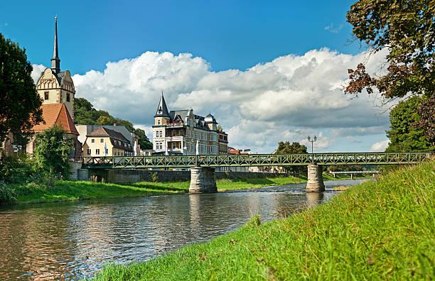 City Gera, Germany. Church And Bridge In District Untermhaus Wall Art