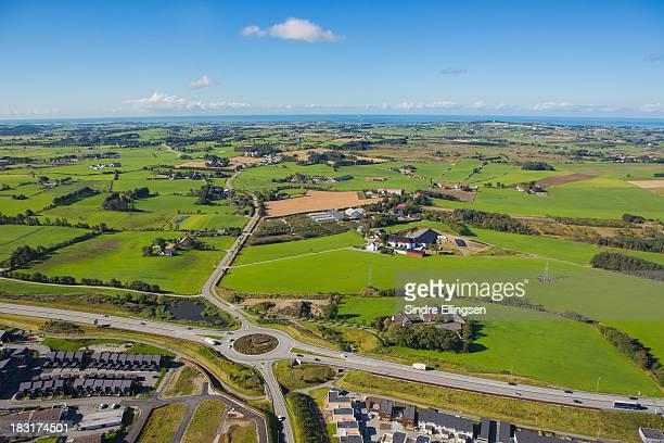 city growing into farmland - ローガラン県 ストックフォトと画像