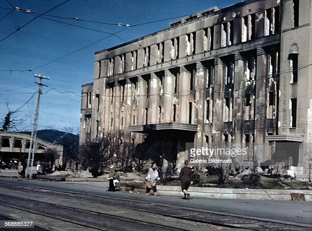City Hall 3,800 feet from ''air zero,'' the site of the blast in Hiroshima after the dropping of the atomic bomb on August 6, 1945. August 1945. The...