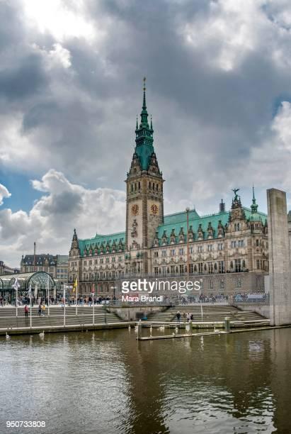 City Hall and Alster, Hamburg, Germany