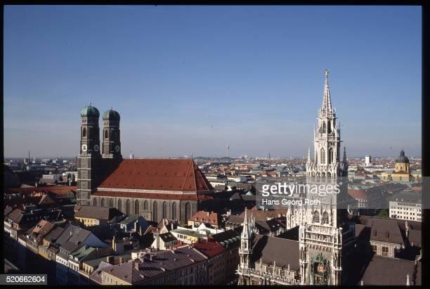 City Hall and Frauenkirche, Munich