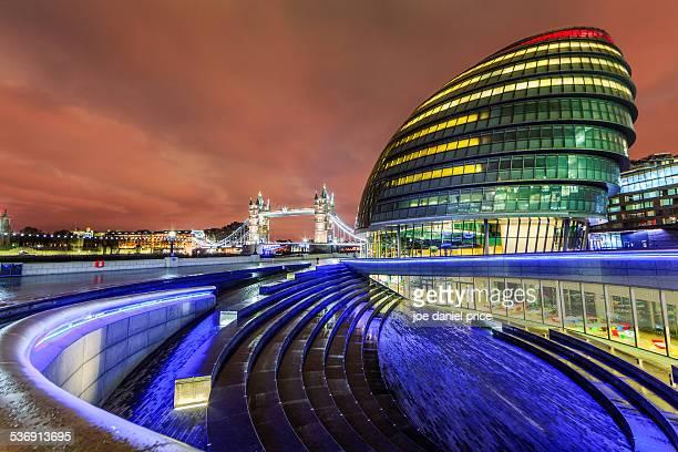 City Hall and Tower Bridge at Night, London