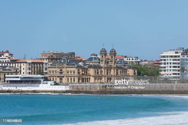 city hall, ayutamiento, donostia, san sebastian, spain - san sebastian spain stock pictures, royalty-free photos & images