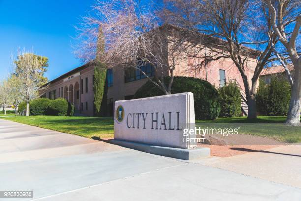 city hall - boulder city - boulder city stock photos and pictures