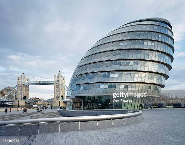 City Hall Gla Greater London Authority London United Kingdom Architect Foster And Partners City Hall Gla Building Exterior With Tower Bridge