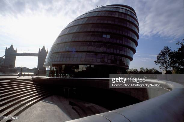 City Hall Greater London Authority GLA Building by Tower Bridge South Bank Southwark London United Kingdom Architects Norman Foster and Partners...