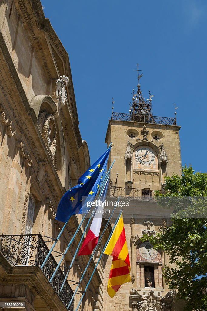 City Hall in Aix en Provence : Stock Photo