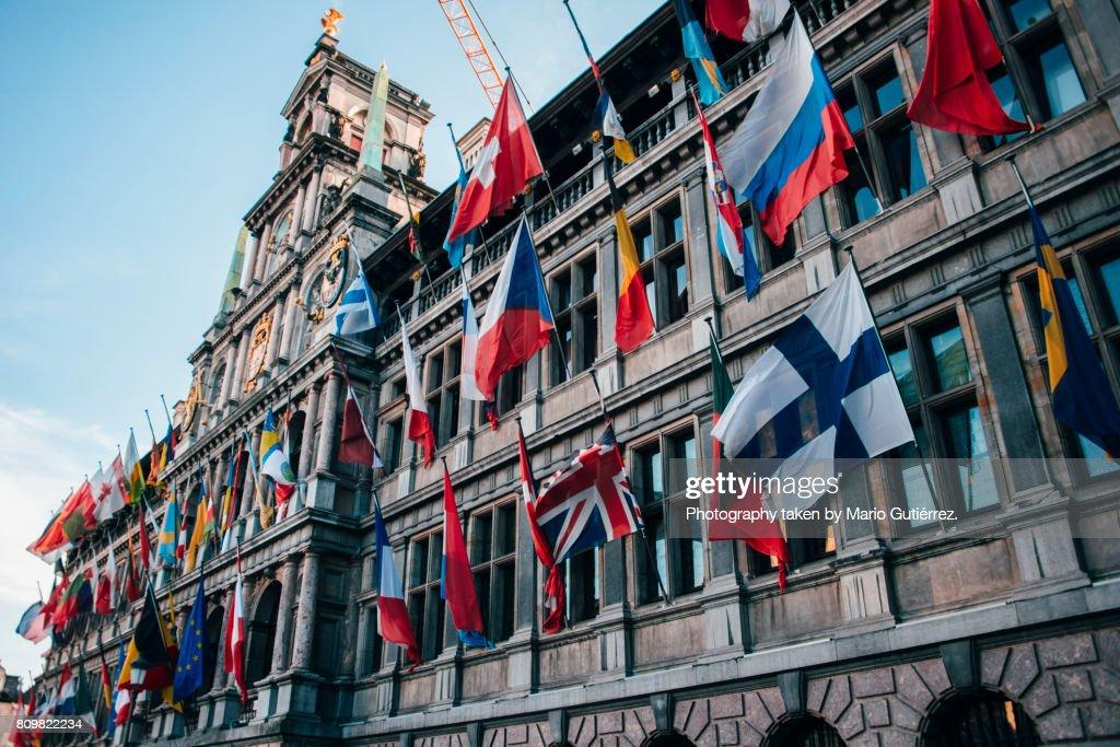 City Hall in Antwerp : Stock Photo