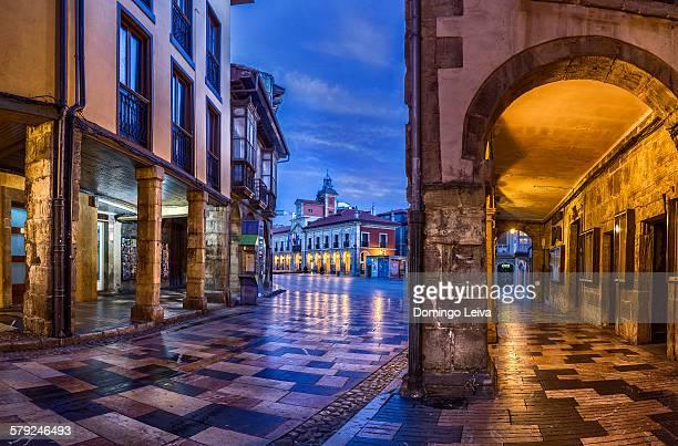 city hall in aviles, asturias, region, spain - principado de asturias fotografías e imágenes de stock