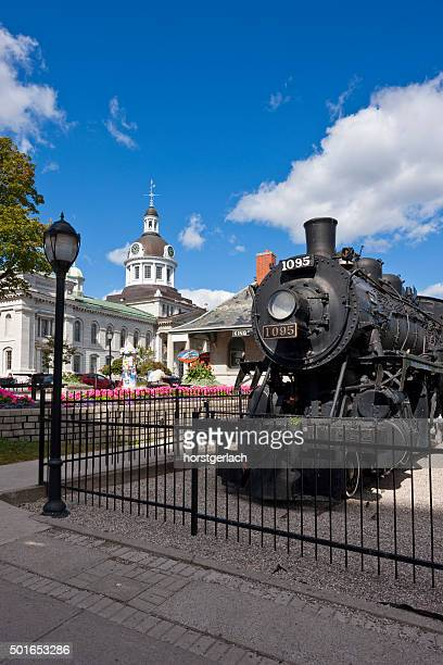 city hall in kingston, ontario, canada - kingston ontario stock photos and pictures