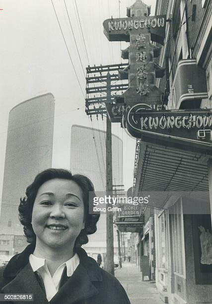 City hall looms over Chinatown the onethird that remains Mrs Jean Lumb is member of Chinese redevelopment committee trying to save community