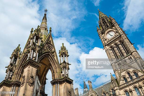 city hall, manchester, england - greater manchester stock pictures, royalty-free photos & images