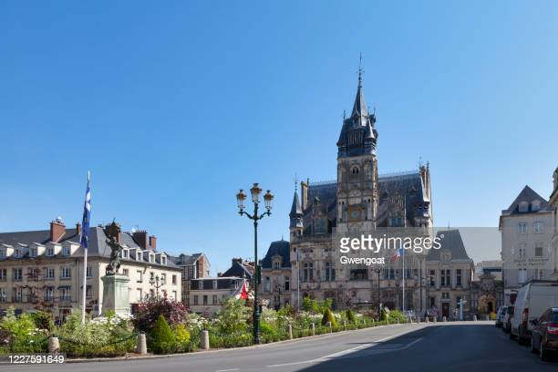 city hall of compiègne - gwengoat stock pictures, royalty-free photos & images