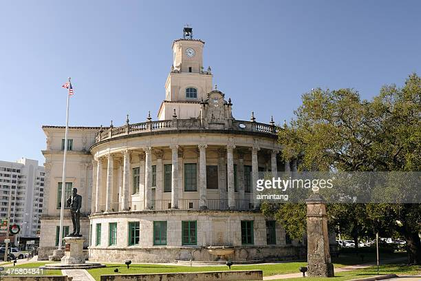 city hall of coral gables - coral gables stock pictures, royalty-free photos & images
