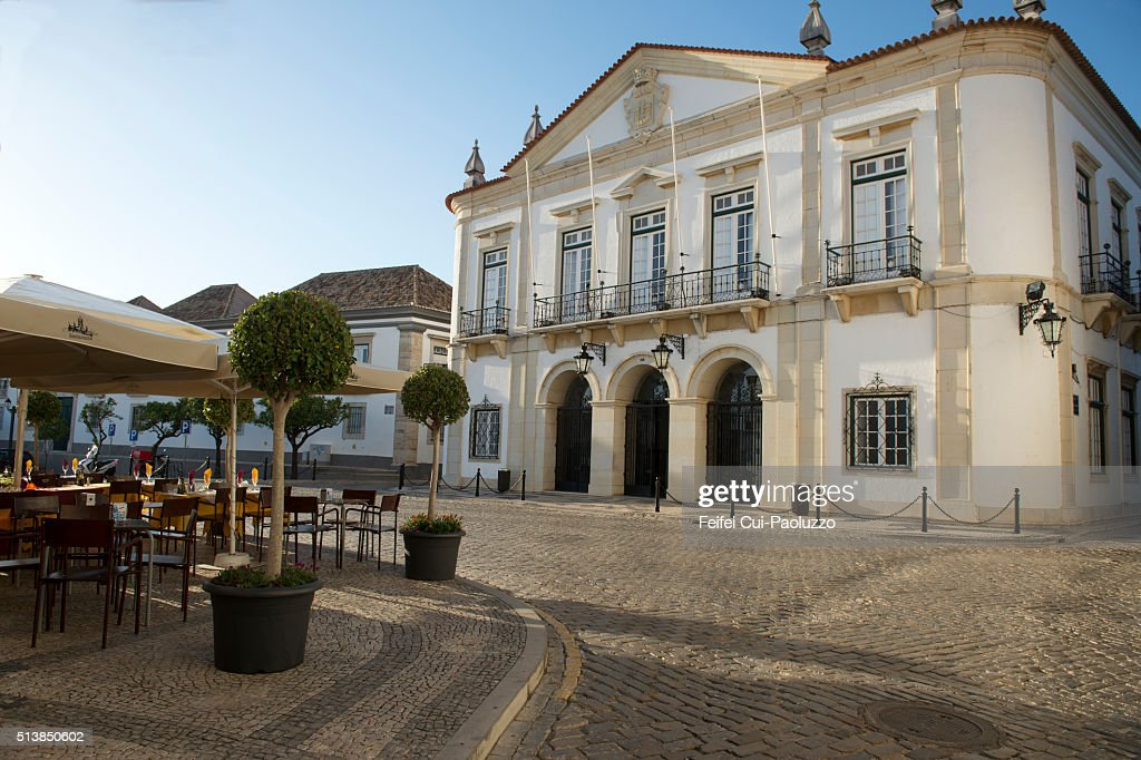City Hall of Faro, Algarve region of Portugal : Stock Photo