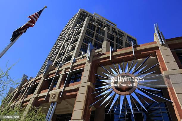 city hall of phoenix - phoenix arizona stock pictures, royalty-free photos & images