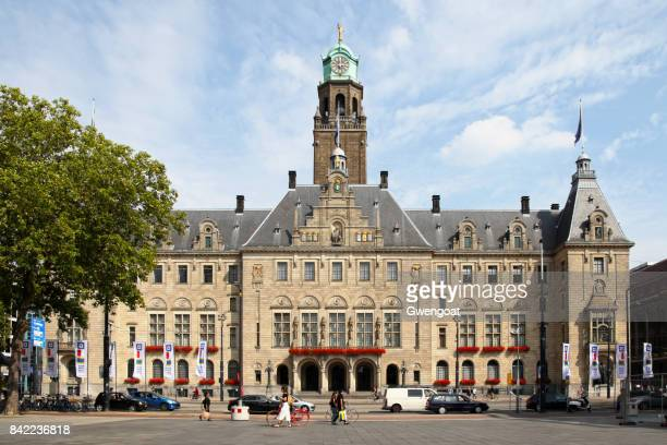 city hall of rotterdam - town hall stock pictures, royalty-free photos & images