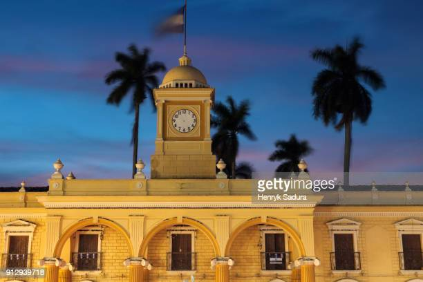 city hall of santa ana - san salvador stock pictures, royalty-free photos & images