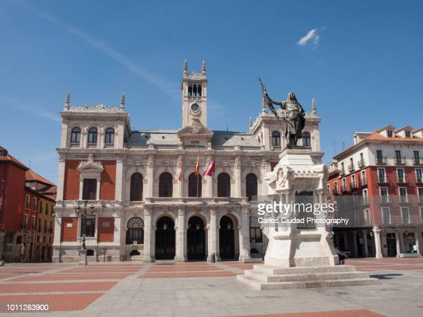 city hall of valladolid, castile and leon, spain - valladolid spanish city stock pictures, royalty-free photos & images
