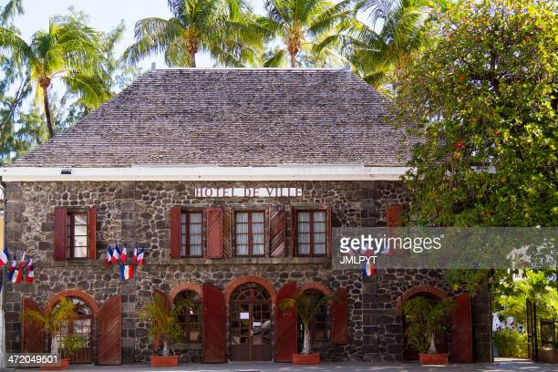 City hall, official building, Saint-Leu, reunion island