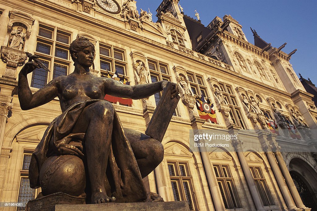 City Hall, Paris, France : Stock Photo