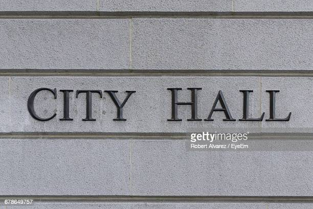 City Hall Text On Wall