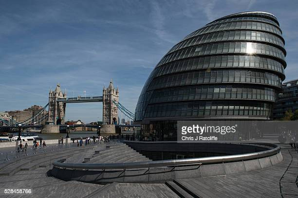 City Hall the headquaters of the Mayor of London and the London Assembly on the southbank of the River Thames as Londoners vote for a new Mayor on...