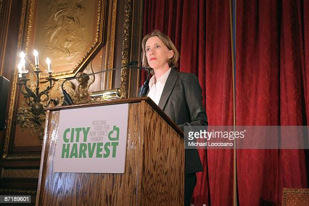 "City Harvest Executive Director Jilly Stephens addresses attendees during the 5th Annual ""On Your Plate"" luncheon hosted by City Harvest at the..."