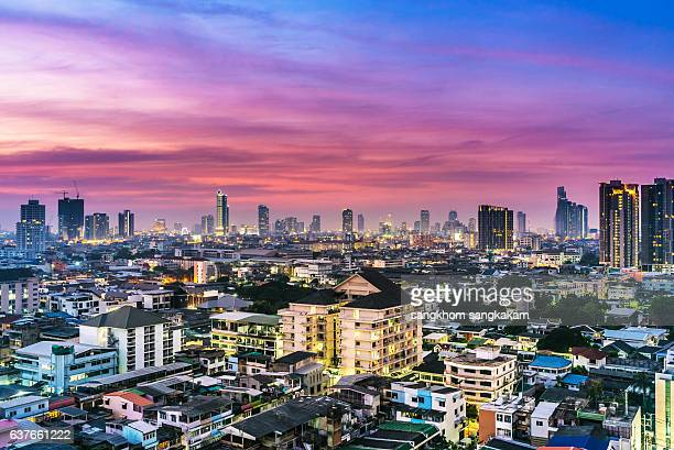 City high-rise buildings and Sky in bangkok