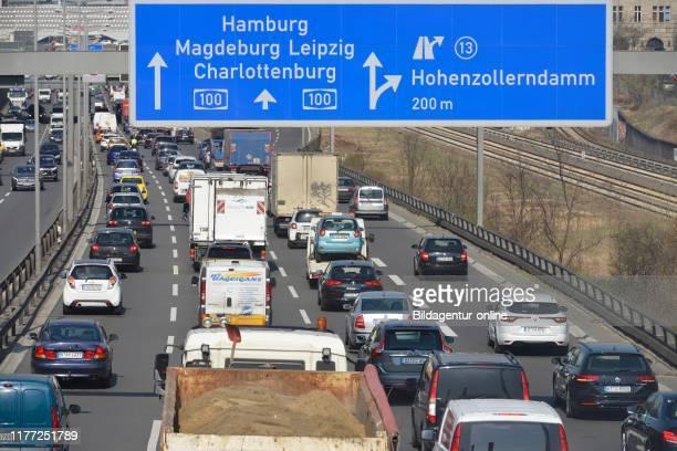 City highway A 100, Wilmersdorf, Berlin, Germany.