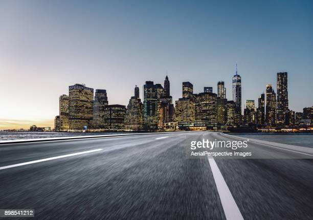 City Highway at Dusk