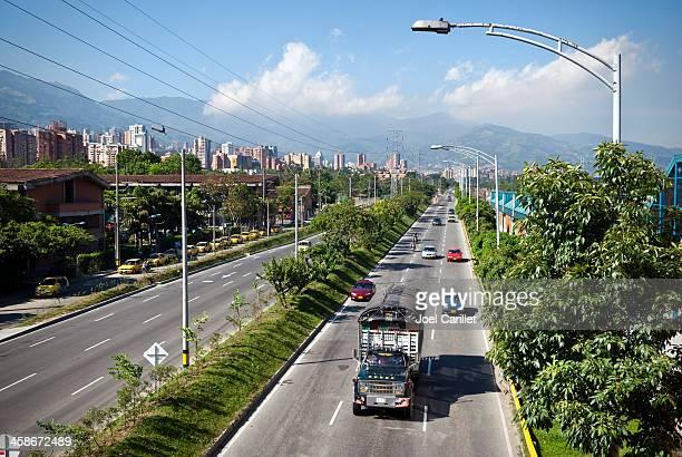 City highway in Medellín, Colombia