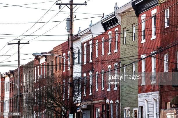 "city homes -  philadelphia - ""peeter viisimaa"" or peeterv stock pictures, royalty-free photos & images"