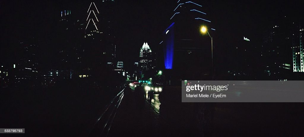 City Illuminated At Night : Foto stock
