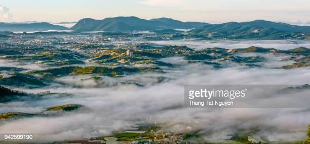 City in fog - Dalat, Vietnam