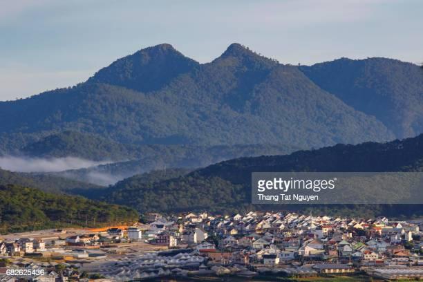 City in foot of Langbiang mountain, Dalat, Vietnam