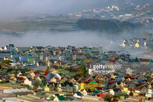 City in mist - Dalat, Vietnam