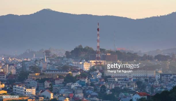 City in morning sunlight  Dalat - Vietnam