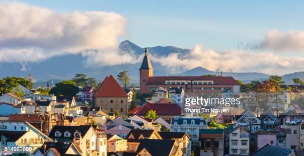 City in panorama Dalat - Vietnam
