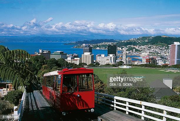 City landscape from the cable car upper terminus Wellington North Island New Zealand