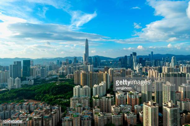 city landscape - shenzhen stock pictures, royalty-free photos & images