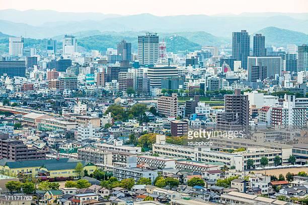 a city landscape - präfektur okayama stock-fotos und bilder