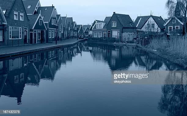 City landscape reflections