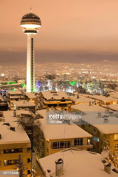 city life and winter - cankaya district ankara stock pictures, royalty-free photos & images
